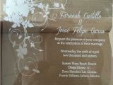 Clear Plastic Wedding Invitations Sample order for Laser Engraving Clear Acrylic Wedding