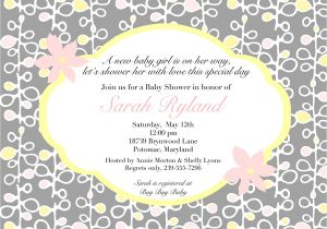 Clever Baby Shower Invite Wording Creative Baby Shower Invitation Wording Various