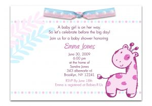 Clever Baby Shower Invite Wording Invitation for Baby Shower Fascinating Baby Girl Shower