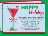Clever Holiday Party Invitations Funny Christmas Invite Wording