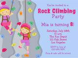 Climbing Wall Party Invitations Free Printable Rock Climbing Birthday Party Invitations