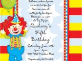 Clown Birthday Party Invitations 1st Communion Invitations 1st Communion Cards