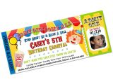 Clown Birthday Party Invitations Carnival Clown Circus Big top Birthday Party Invitations
