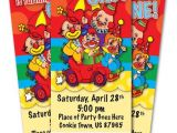 Clown Birthday Party Invitations Circus Clown 1st Birthday Party Invitation Ticket Stub