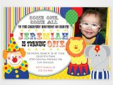 Clown Birthday Party Invitations Free Printable First Birthday Invitations Free