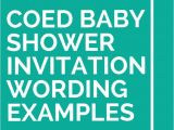 Co-ed Baby Shower Invitation Wording 21 Coed Baby Shower Invitation Wording Examples