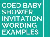 Co Ed Baby Shower Invitation Wording 21 Coed Baby Shower Invitation Wording Examples