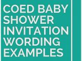 Co Ed Baby Shower Invitation Wording Baby Shower Invitation Elegant Co Ed Baby Shower Invites
