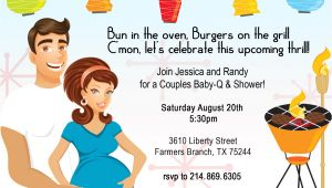 Co Ed Baby Shower Invitation Wording Retro Coed Baby Bbq Shower Invitation