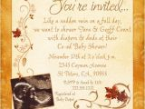 Co Ed Baby Shower Invitation Wording Warm Fall Co Ed Ultrasound Invitation Baby Shower Leaves