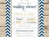 Co-ed Bridal Shower Invitation Wording Chevron Wedding Shower Invitation Couples Coed Bridal