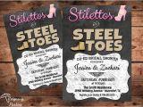 Co-ed Bridal Shower Invitation Wording Co Ed Wedding Shower Invitation Stilettos & by Reigningparties