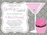 Cocktail Bridal Shower Invitation Wording Cupcakes and Cocktails Bridal Shower Invitation by Jcbabycakes