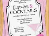 Cocktail Bridal Shower Invitations Cupcakes and Cocktails Bridal Shower Invitation by