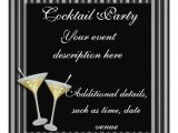 Cocktail Party Invitation Background Cocktail Party Invitation 13 Cm X 13 Cm Square Invitation