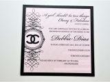 Coco Chanel Bridal Shower Invitations Coco Chanel Party Invitation