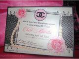 Coco Chanel Bridal Shower Invitations Coco Chanel Shower Invitation Wedding Baby by
