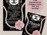 Coco Chanel Bridal Shower Invitations Custom Hand Drawn Coco Chanel Designer Bridal Shower
