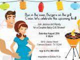 Coed Baby Shower Invitation Templates Retro Coed Baby Bbq Shower Invitation