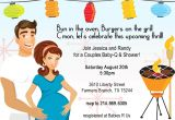 Coed Baby Shower Invitations Wording Ideas Retro Coed Baby Bbq Shower Invitation