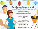 Coed Baby Shower Invite Wording Retro Coed Baby Bbq Shower Invitation