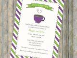 Coffee themed Bridal Shower Invitations Coffee Bridal Shower Invitation Tea Bridal by