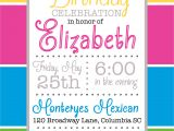 Color theme Party Invitation Wording Color Block Party Invitation Pure Design Graphics