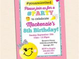 Color theme Party Invitation Wording Emoji Birthday Party Invitation Inkberry Creative Inc