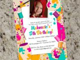 Color theme Party Invitation Wording Paint Your Own Pottery themed Party Invitations Kids