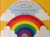 Color theme Party Invitation Wording Party Invitations for A Rainbow themed Birthday Party