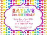 Color theme Party Invitation Wording Rainbow Birthday Party Invitation 12 00 Via Etsy