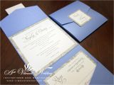 Coloured Wedding Invitations Blue and Silver Wedding Invitation A Vibrant Wedding