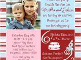 Combined Birthday Party Invitation Wording Boy and Girl Combined Birthday Invitations Sibling