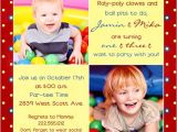 Combined Birthday Party Invitation Wording Rainbow Striped Joint Birthday Cards Bright Fun Photos