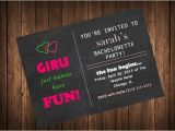 Combined Bridal Shower and Bachelorette Party Invitations Bachelorette Party Invitation Chalkboard Design Printable