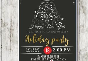Company Holiday Party Invitation Ideas Company Holiday Party Invitations Black White Christmas