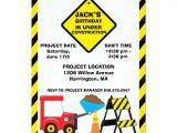 Construction Birthday Invitation Template Construction Birthday Party Invitation Zazzle