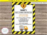Construction Birthday Invitation Template Construction Invitation Template Dump Truck Birthday Party