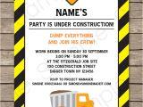 Construction Birthday Invitation Template Construction Party Invitations Template Birthday Party
