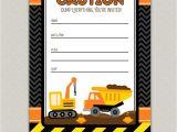 Construction Birthday Invitation Template Free Construction Birthday Party Printables