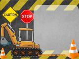 Construction Birthday Invitation Template Free Construction Invitation Templates Free Printable
