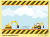 Construction Birthday Invitation Template Jar Of Ideas Construction Trucks Birthday Invitation