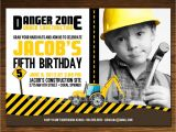 Construction theme Party Invitation Template Birthday Invites Construction Birthday Invitations Free