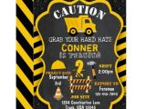 Construction theme Party Invitation Template Construction Birthday Invitation Dump Truck Zazzle