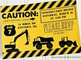 Construction theme Party Invitation Template Construction Birthday Invitations Template Resume Builder