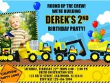 Construction theme Party Invitation Template Construction Birthday Party Invitations Template Best