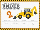 Construction theme Party Invitation Template Construction themed Birthday Party Free Printables