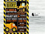Construction themed Baby Shower Invitations Construction Baby Shower Invitation Digital File