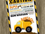 Construction themed Baby Shower Invitations Construction Baby Shower Invite