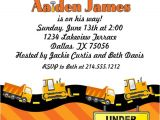 Construction themed Baby Shower Invitations Construction themed Baby Shower Invitation or Birthday